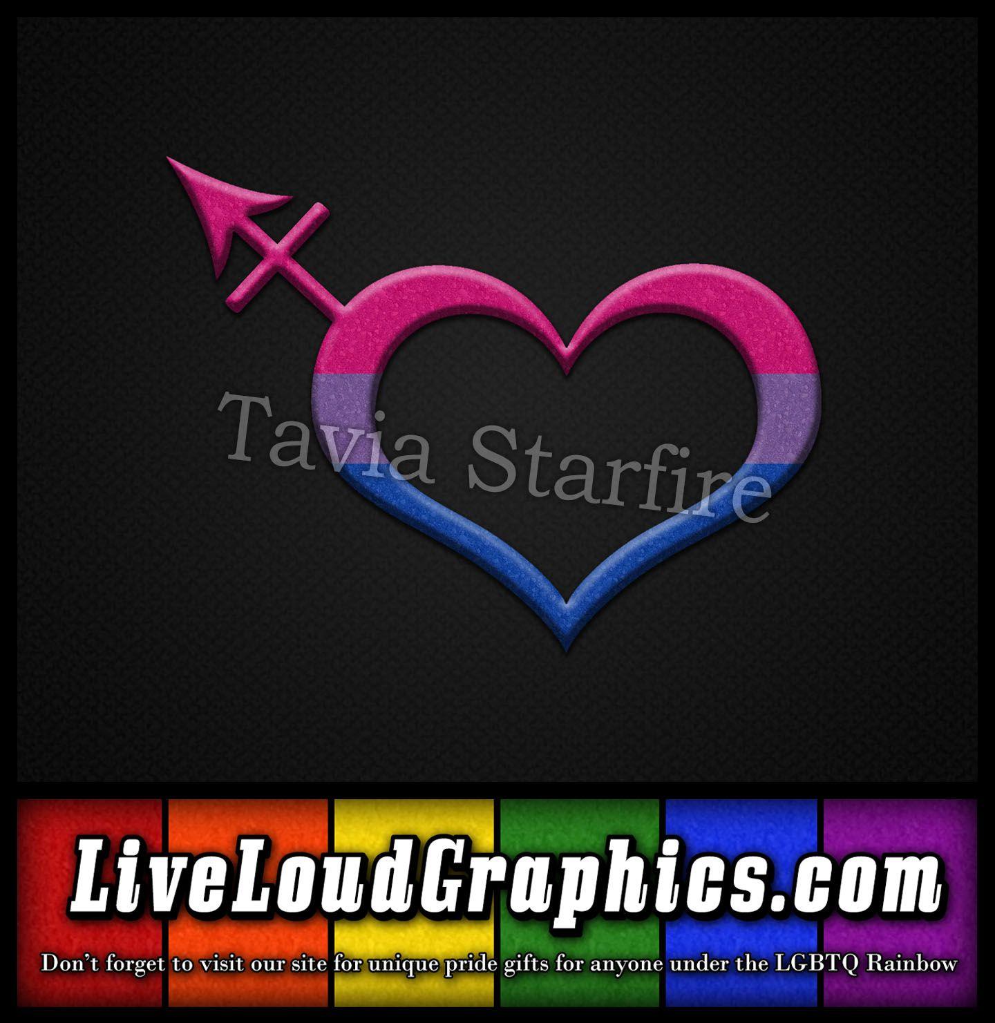 Bisexual Pride Heart Shaped Transgender Symbol In Matching Pride