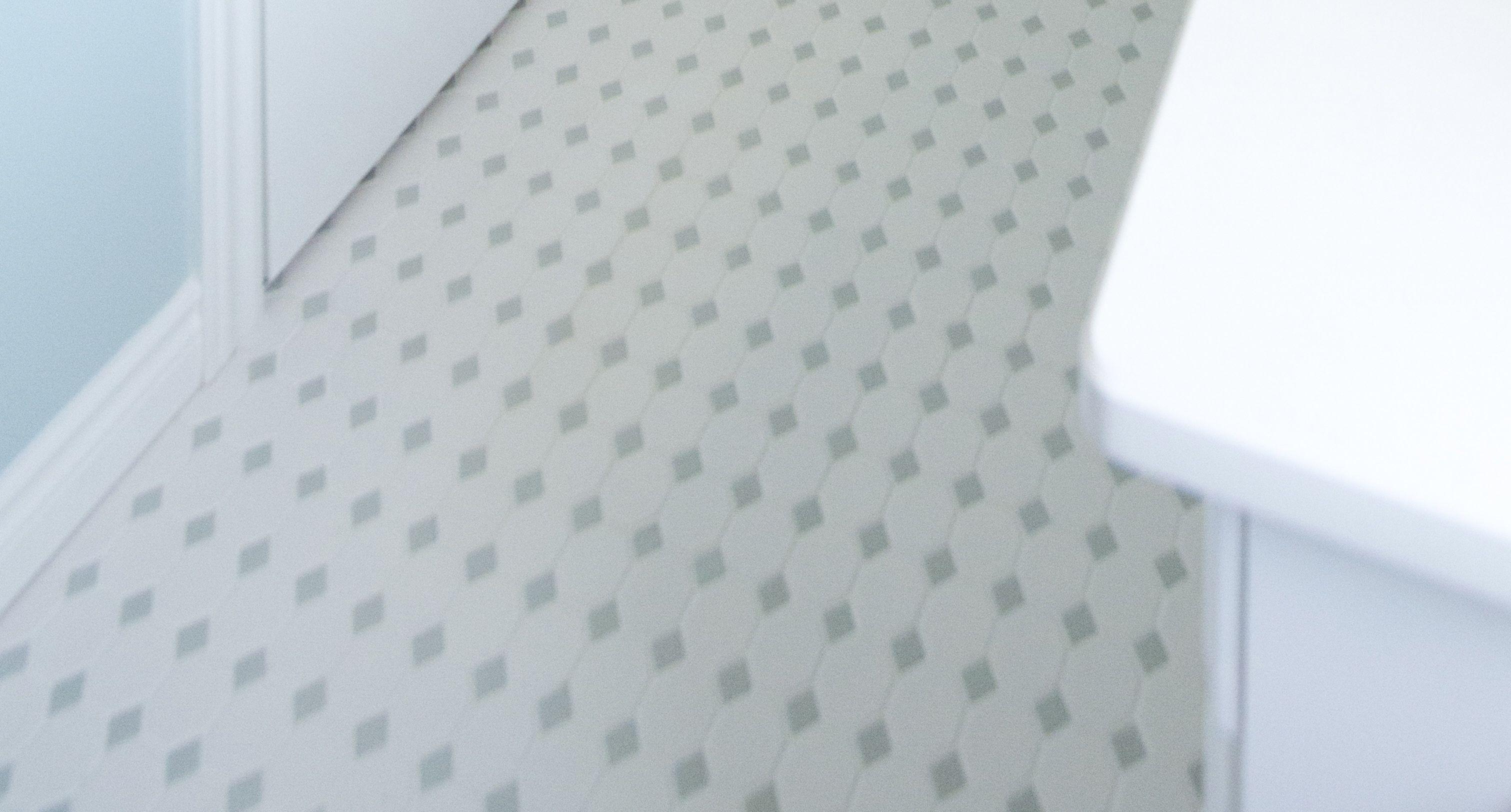 Bathroom Octagon Dot Matte White Grey Gloss Dot Daltile