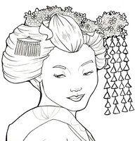Coloriage Adulte Geisha.Geisha Drawing By Khallion On Deviantart Tattoos Geisha