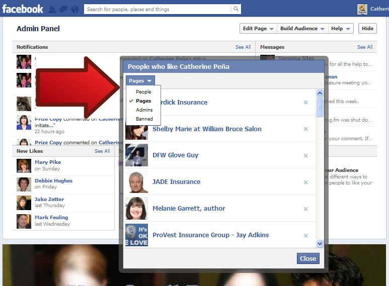 Do you know what businesses follow your Facebook page? To