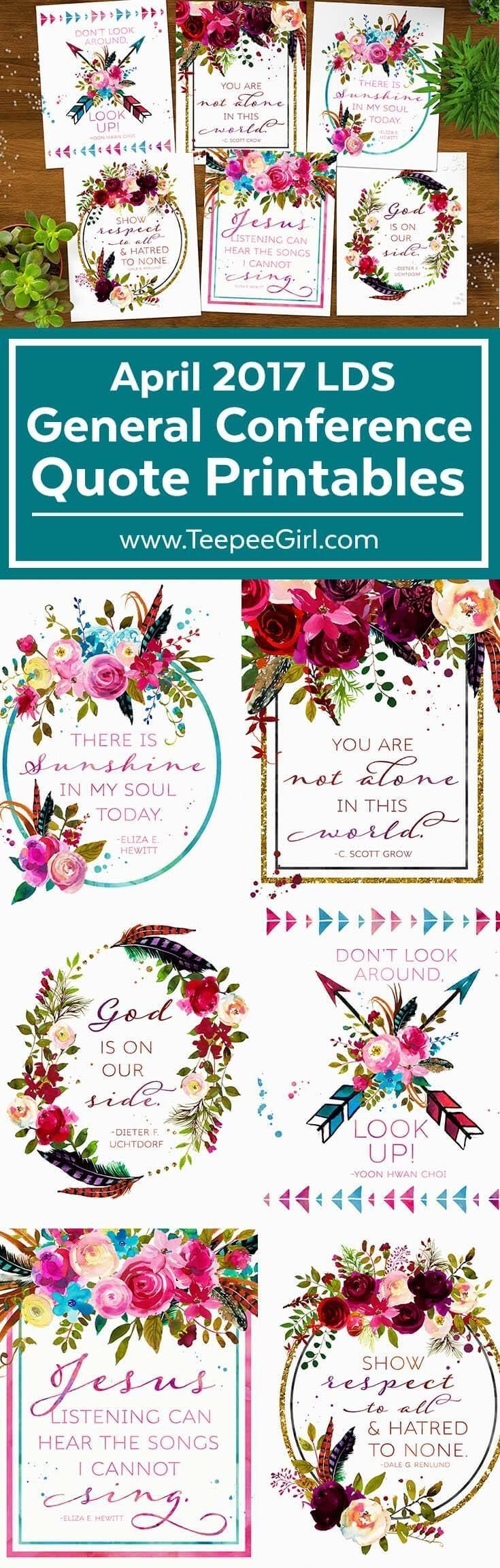 Free April 2017 General Conference Quote Printables | General ...