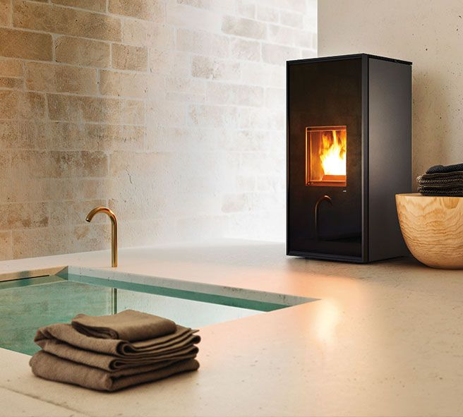 Nordic Design In Italian Style Living Room With Stove Nordic Style Living Room Wood Pellet Stoves