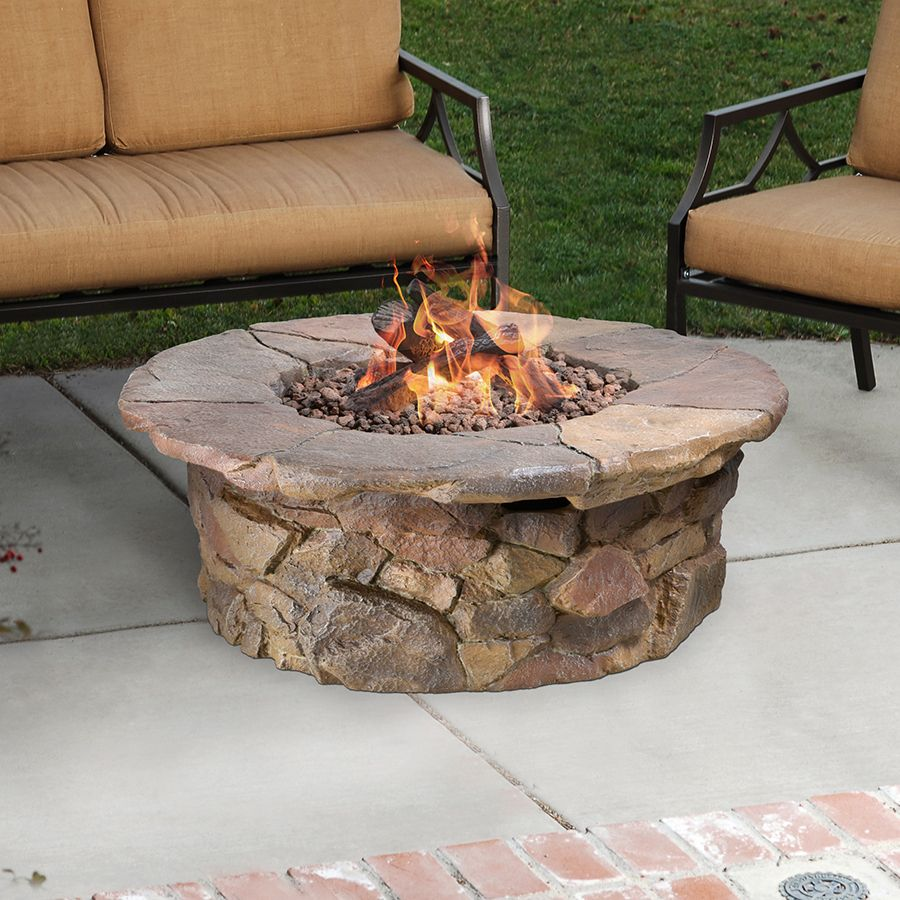 Shop Garden Treasures Tosca 42 In W 50 000 Btu Stone Design