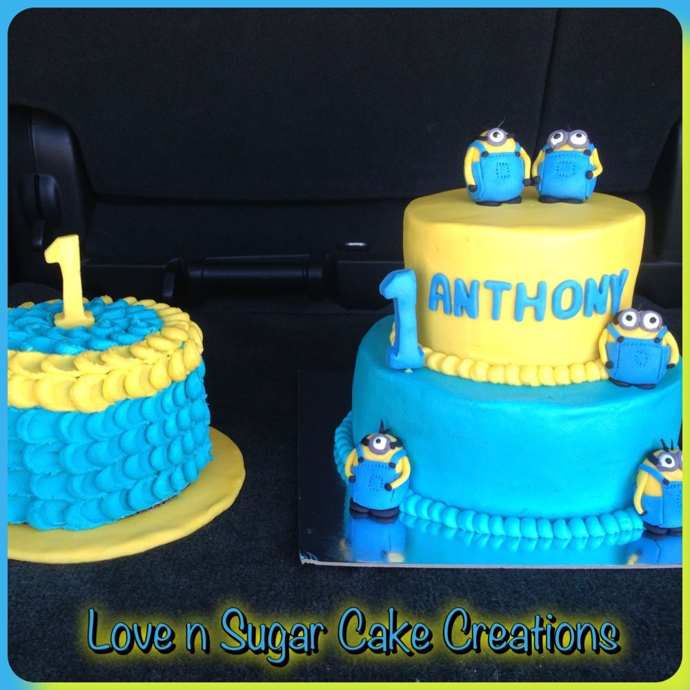 Superb Despicable Me 1St Birthday Cake Fondant Minions Along With A Funny Birthday Cards Online Fluifree Goldxyz
