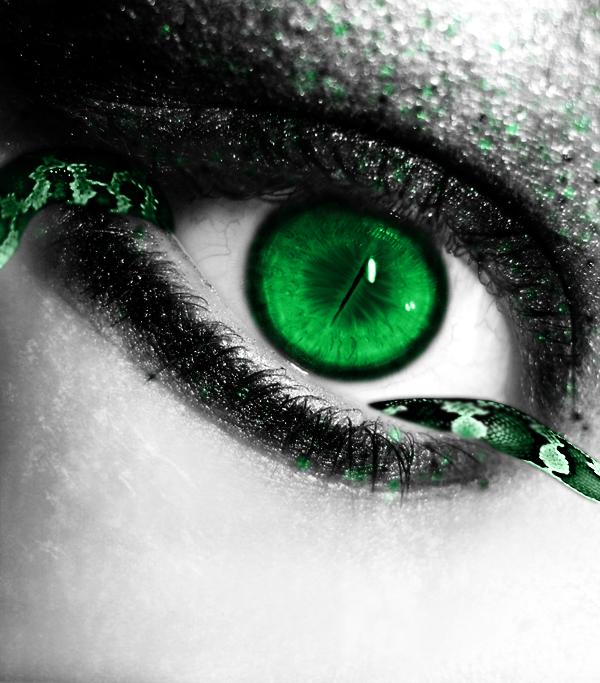 Green Snake Eye By Crazy Kiwii Deviantart Com On Deviantart Eye Art Snake Eyes Green Snake