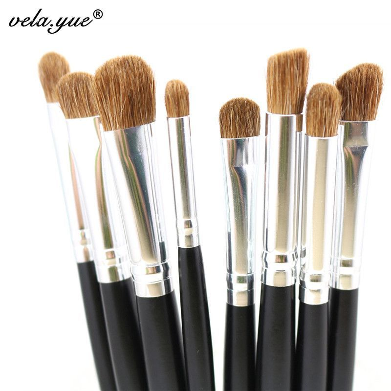 Premium 8pcs Eye Makeup Brushes Set Nature Hair Eyes Shadow Contour