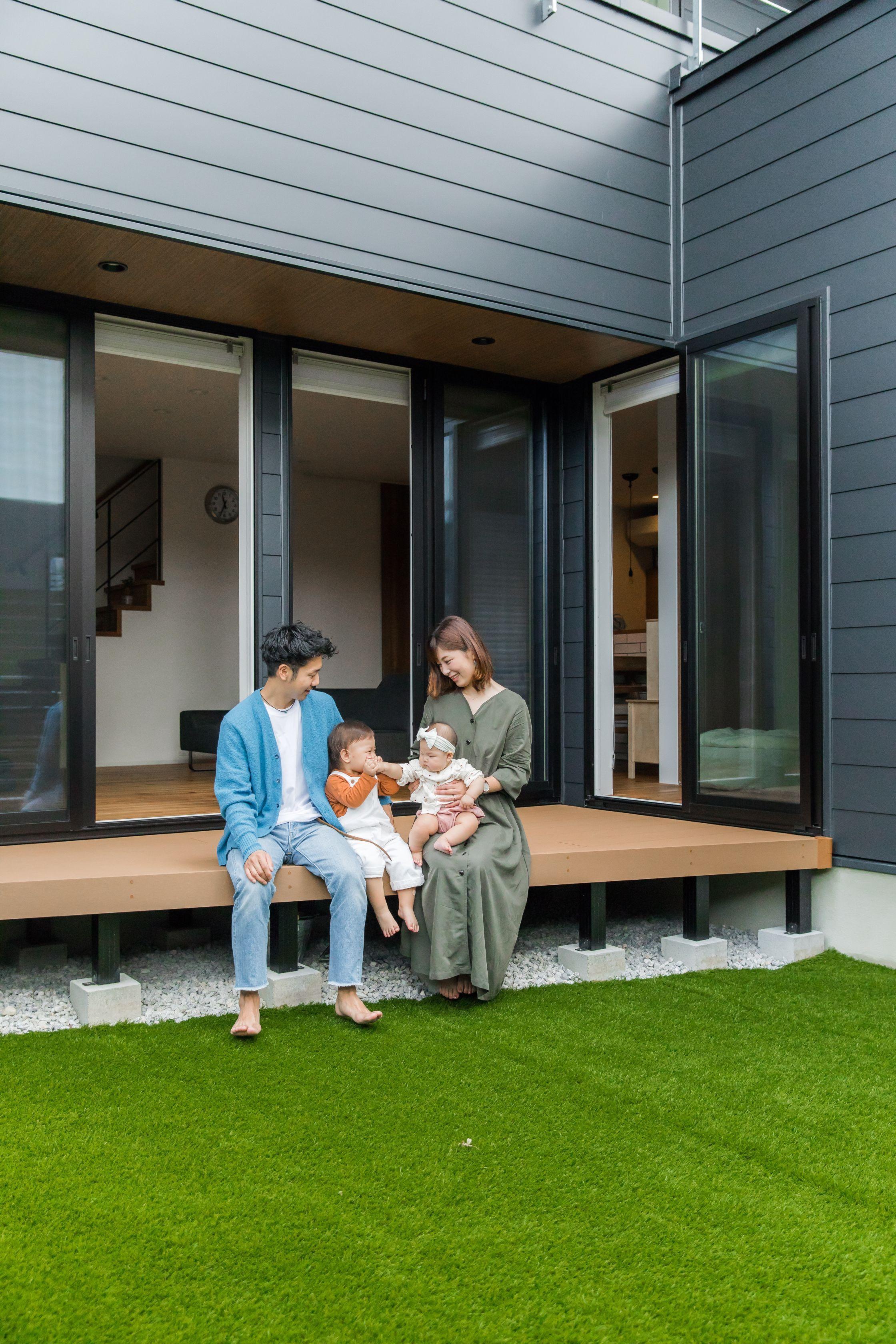 中庭のあるコの字型の家 新築 亀岡市 N様邸 2020 家