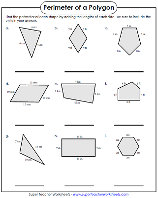 Perimeter Worksheets Shapes worksheets, Perimeter