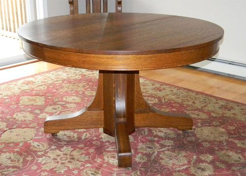 Antique Quartersawn Oak Mission Hastings Table With 5 Leaves | EBay