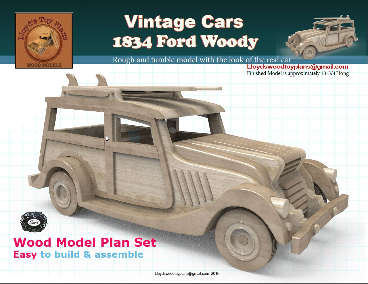 Cars 4 toys  Making the ford woody  Сделай сам  Pinterest  Wood toys How to