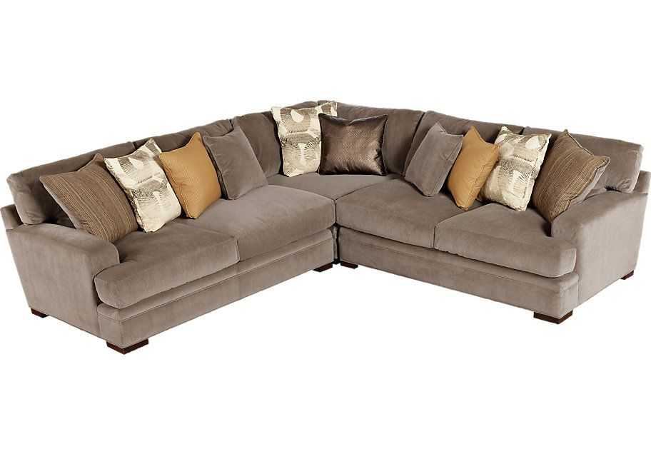 picture of Cindy Crawford Home Fontaine 3 Pc Sectional ...