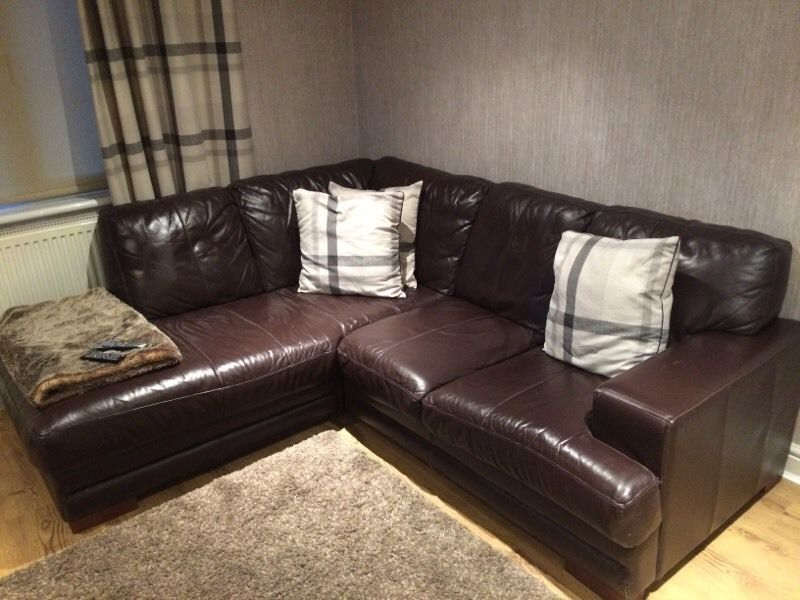 Brown Leather Corner Couch 50 Glasgow Gumtree Corner Couch