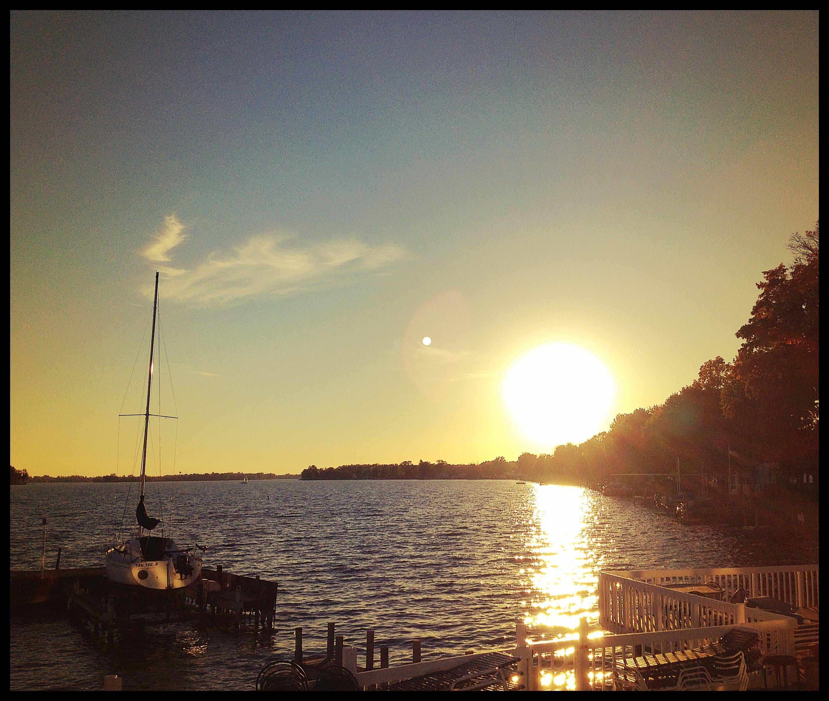 Phone photography sunset at buckeye lake buckeye lake
