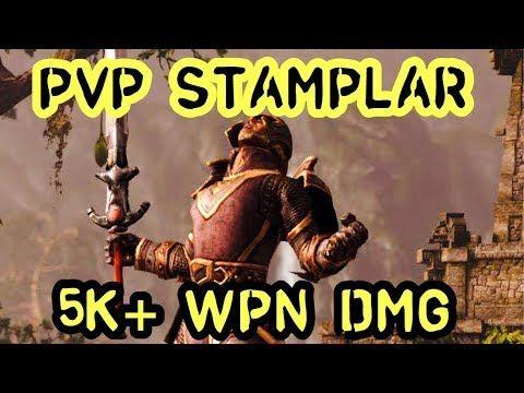 5k weapon damage stamplar pvp build eso youtube elder scrolls
