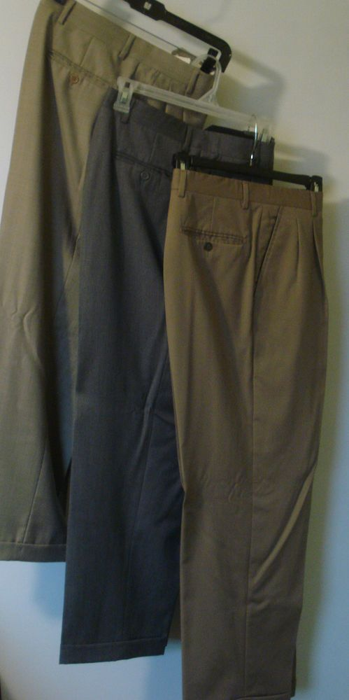 695866e938d5 Kirkland Signature Men's Dress Wool Pleated Cuffed Pants~Lot of 3~Size 32 X  29 #KirklandSignature #DressPleat