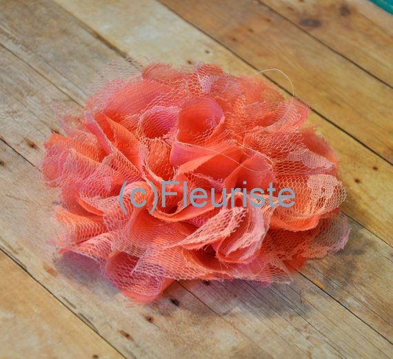 shredded lace flower to add to waist of bm dresses