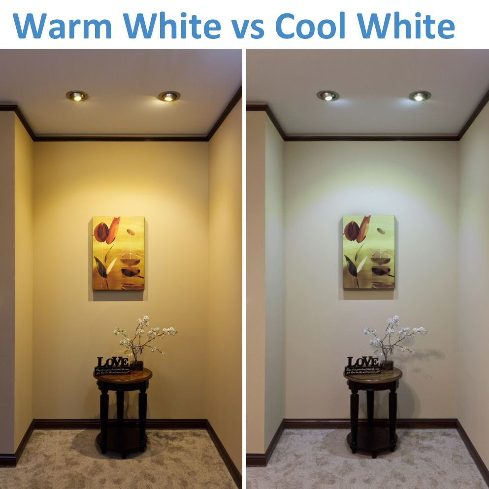 Warm White Vs Cool White Led Lighting White Led Lights Bathroom Light Bulbs Bathroom Lighting