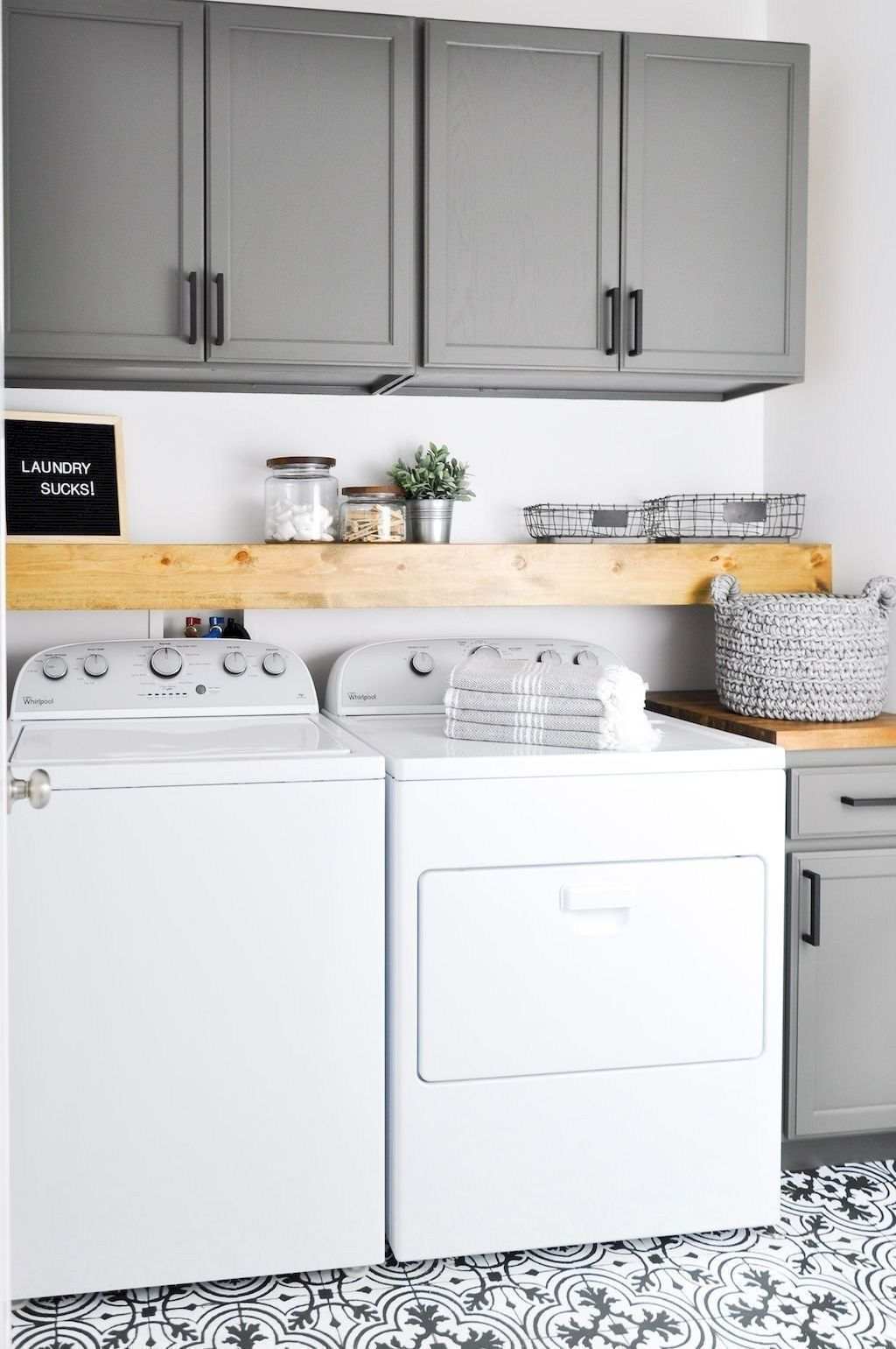 15 Budget Room Makeovers You Have To See: Best Small Laundry Room Decorating Ideas To Inspire You 57