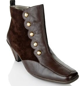 """Bellini Leather & Suede Bootie with Button Detail ~ INCREDIBLE!! I COULD """"LOVE"""" these!!"""