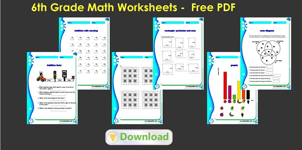 6th Grade Math Worksheets Math Worksheets Pdf Downloads For