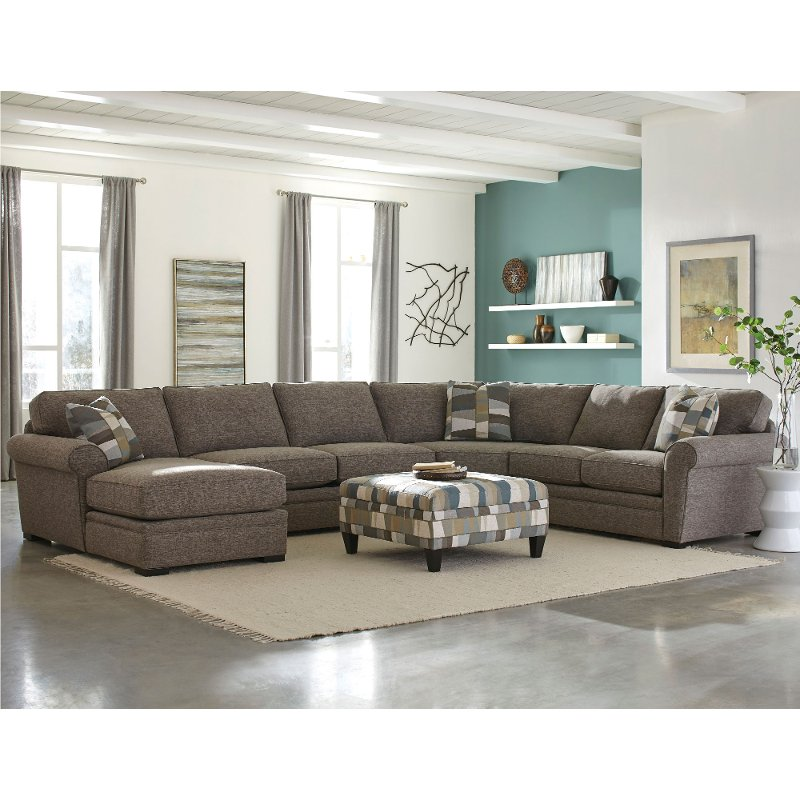 Sectional Couch With Chaise Brown 4 Piece Sectional Sofa With Laf Chaise Orion Rc Will Brown Living Room Decor Brown Living Room Sectional Sofa With Chaise