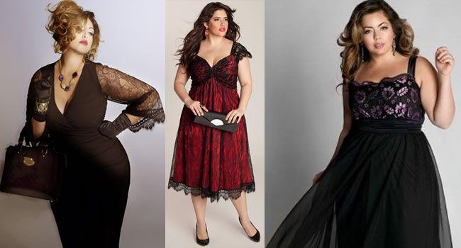 Vestido de Renda Curto Plus Size 3