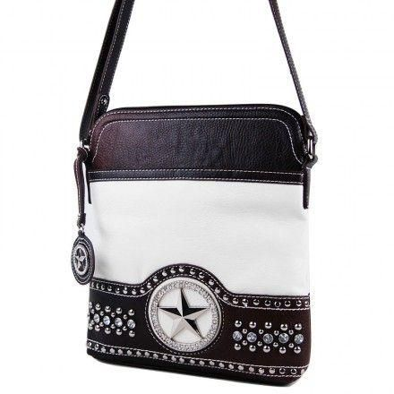 Silverake Bags Leather Western Star White Crossbody Purse Ebay Hilarious Stuff Westerns