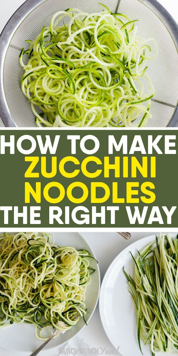How to Cook Zucchini Noodles: Ultimate Zoodles Guide #healthyrecipes