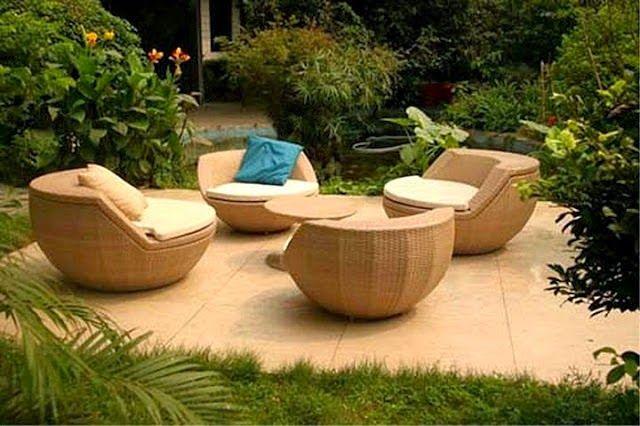 Patios y Jardines : MUEBLES PARA PATIO DE MIMBRE | ideas para jardin ...