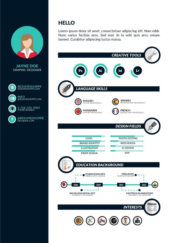 Download A Free Infographic Resume No Strings Attached Idee