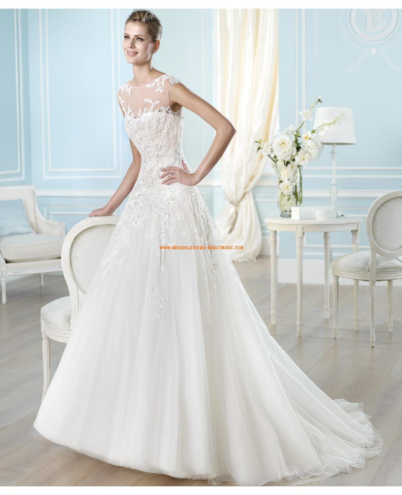 Schönste Brautkleider 2014 kaufen online aus Satin und Tüll A-LInie ...