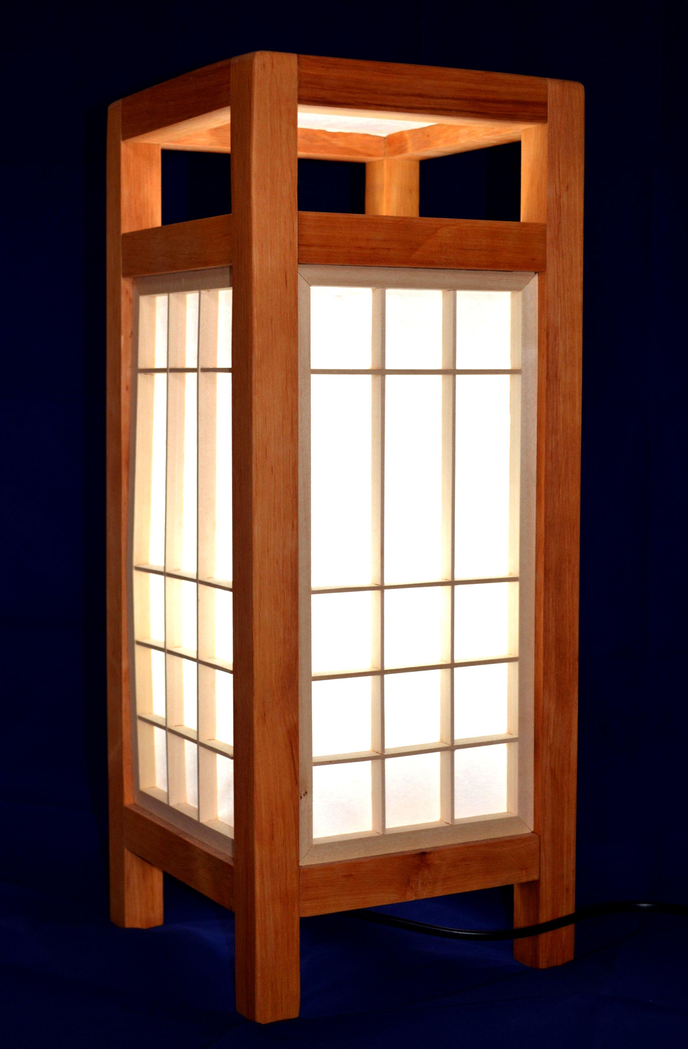 wooden lamp, kumiko, shoji, japan culture, handmade ...