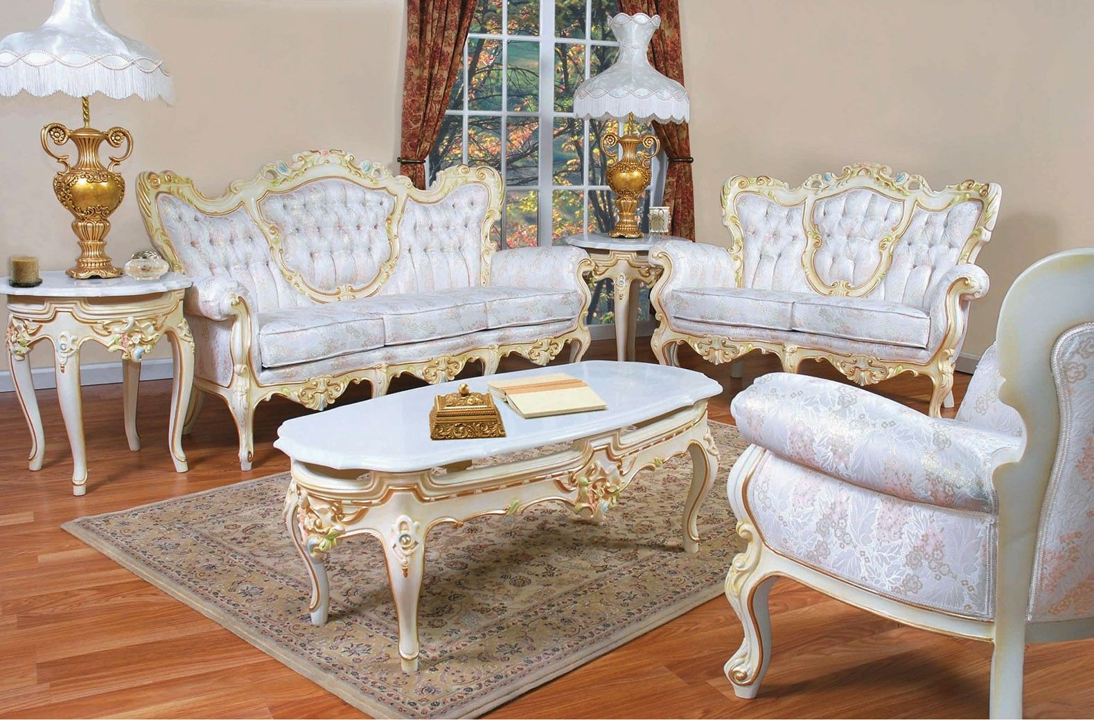 French Provincial Style Sofa Chair in 8  Victorian style
