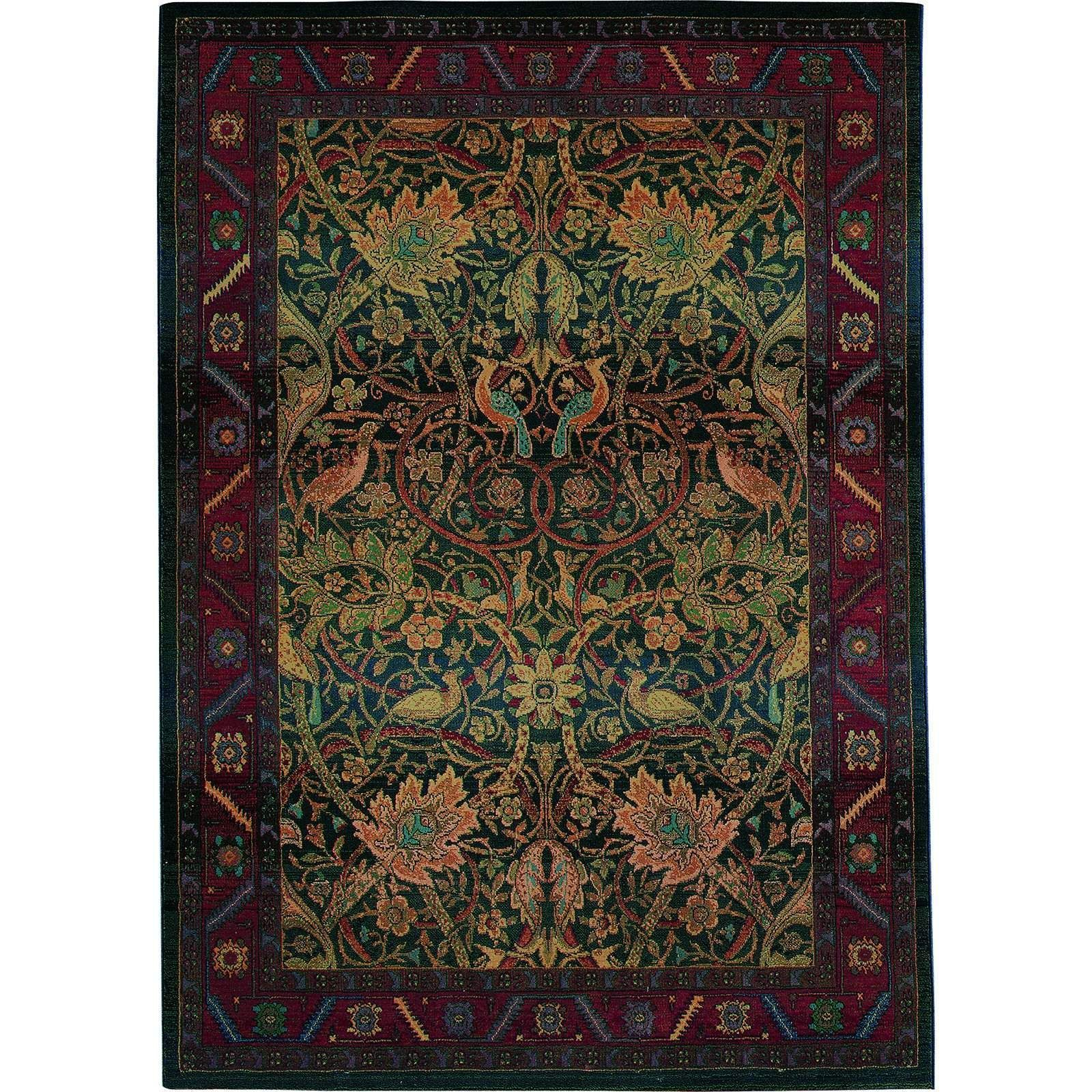 Oriental Weavers Traditional Red Blue Polypropylene Floral Machine Woven Area Rug