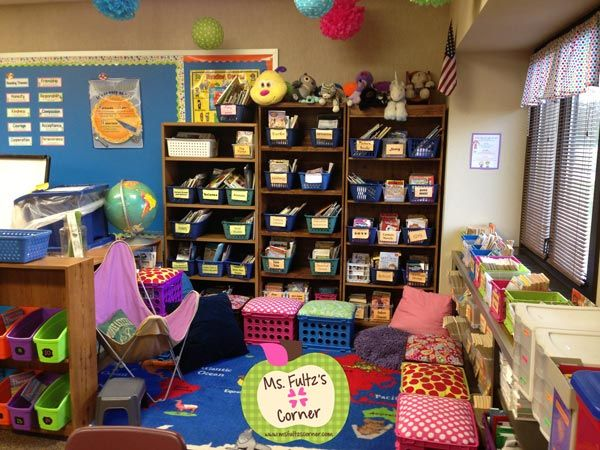 Ms. Fultz's Corner: Classroom Reveal 2013 with video-- classroom library