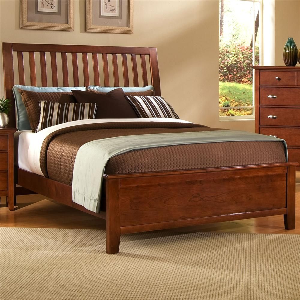 Kittles Bedroom Furniture Twilight King Slat Headboard Bed By Vaughan Bassett Home Stuff