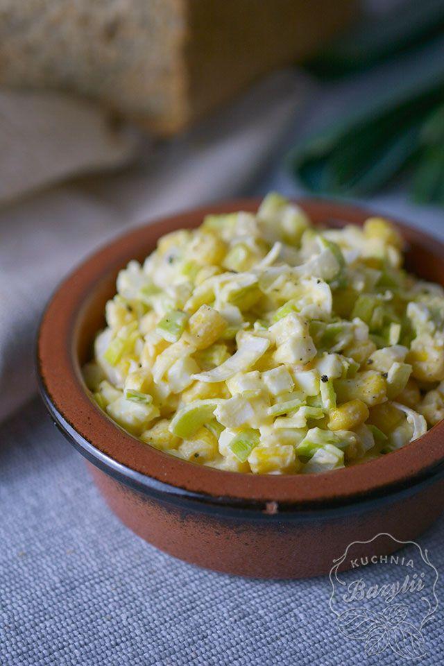 Salatka Z Jajek Pora I Kukurydzy Kuchniabazylii Pl Blog