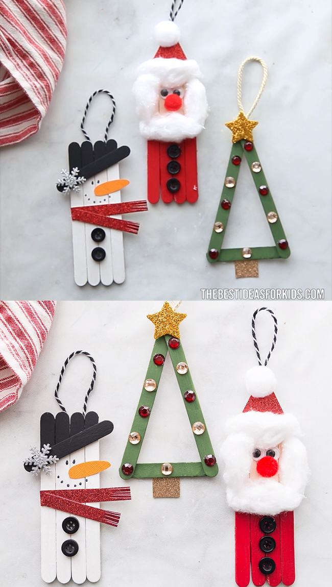 POPSICLE STICK CHRISTMAS CRAFTS,  #Christmas #Crafts #Popsicle #Stick