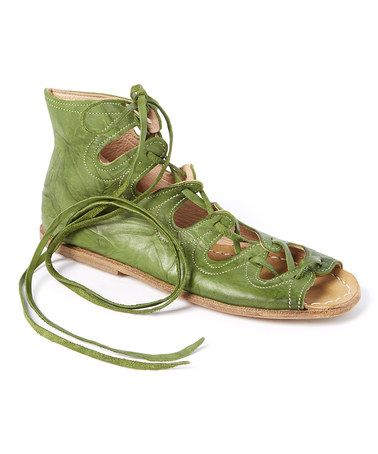 Another great find on #zulily! Green Siena Leather Sandal #zulilyfinds