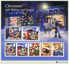 2010 Christmas with Wallace and Gromit Miniature Sheet of Mint Stamps No. 75