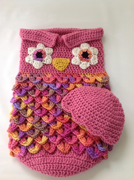 READY TO SHIP Baby Owl Cocoon Baby by TimelessCrochetCraft | Crochet ...