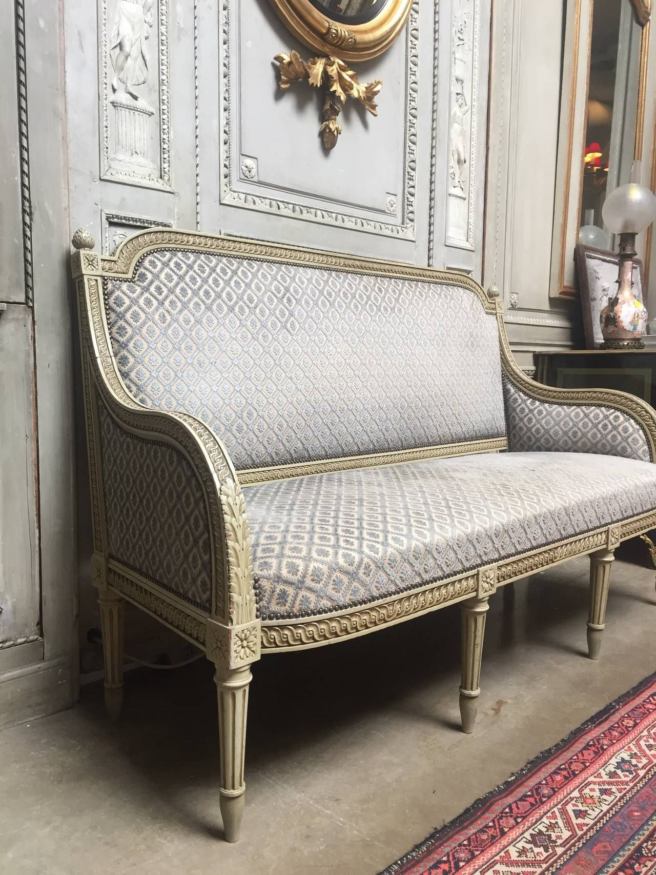 French Louis XVI Style Painted Sofa | From A Unique Collection Of Antique  And Modern Sofas