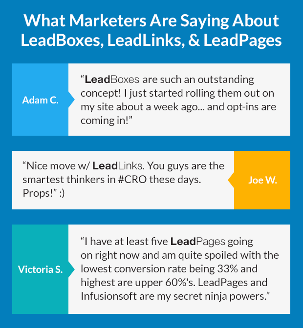leadpages  leadboxes  leadlinks  which should you use