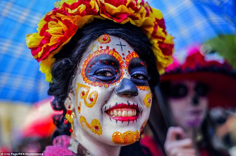 Thousands in Mexico City celebrate Day of the Dead in a