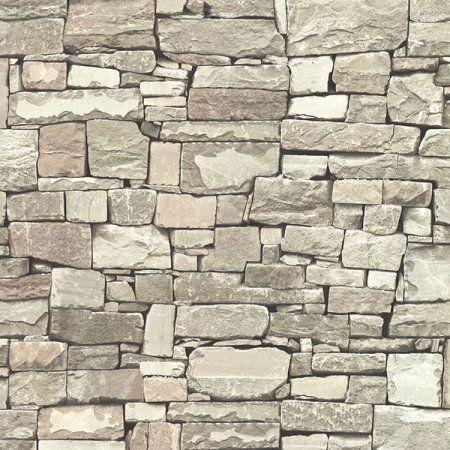 Advantage Tallulah Taupe Stone Wallpaper in 2019 Stone