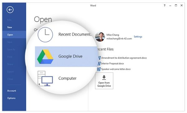 Google Drive plug-in for Microsoft Office released #MicrosoftEden - google spreadsheet login