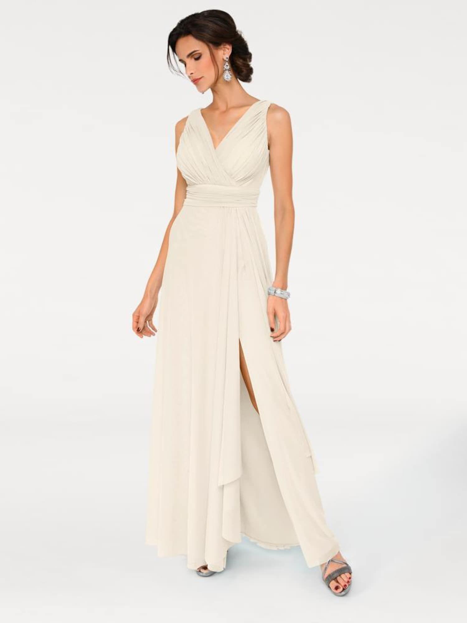 Heine Abendkleid Damen, Creme, Größe 14  Abendkleid, Modestil