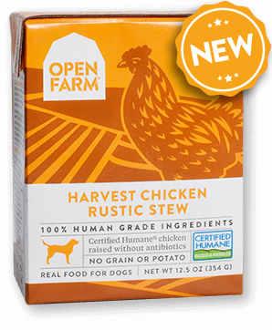 Open farm harvest chicken rustic stew tetra packs bpa free