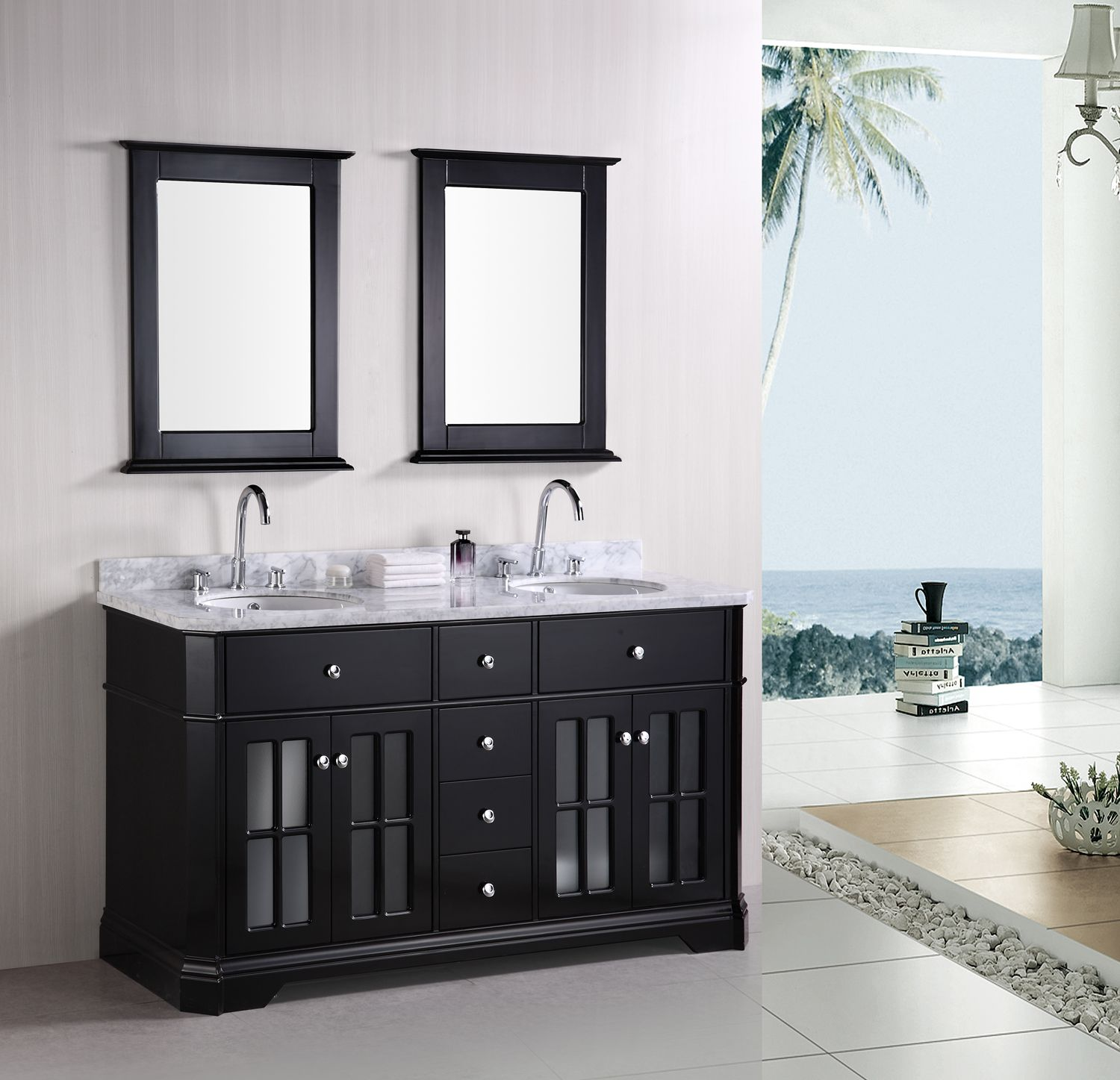 Double Bathroom Vanities Imperial 60 Sink Vanity Set Listvanities