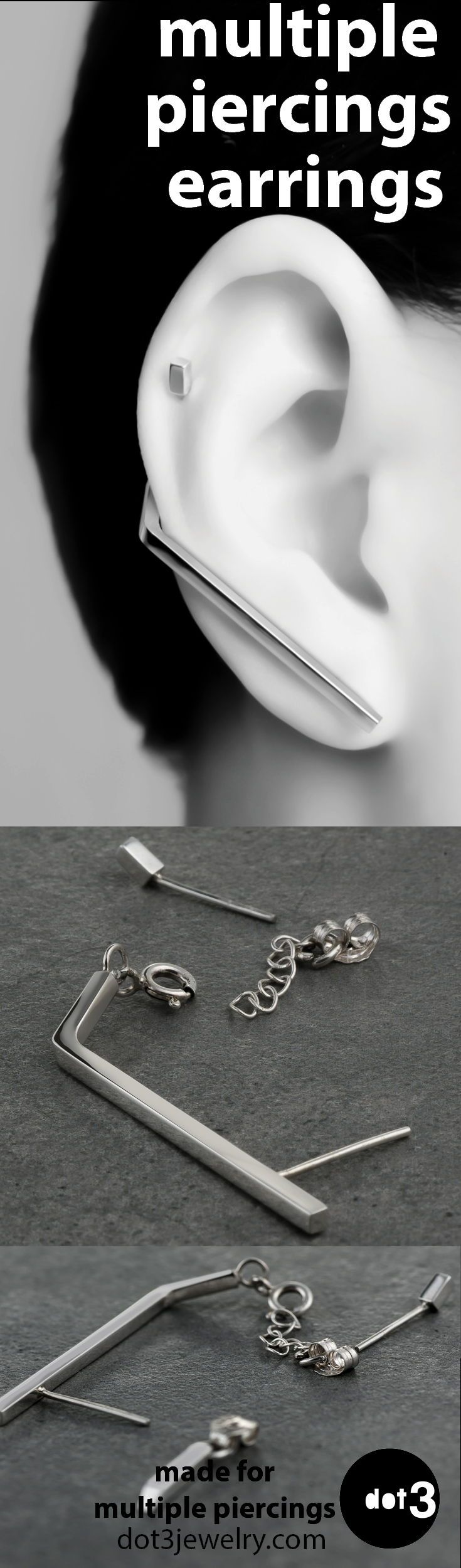 Names for cartilage piercing   my pm date  multiple piercing earrings  Piercings  Pinterest